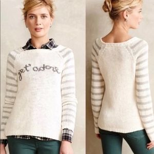 Anthropologie Sweaters - Anthropologie MOTH brand Je T'adore Sweater   L